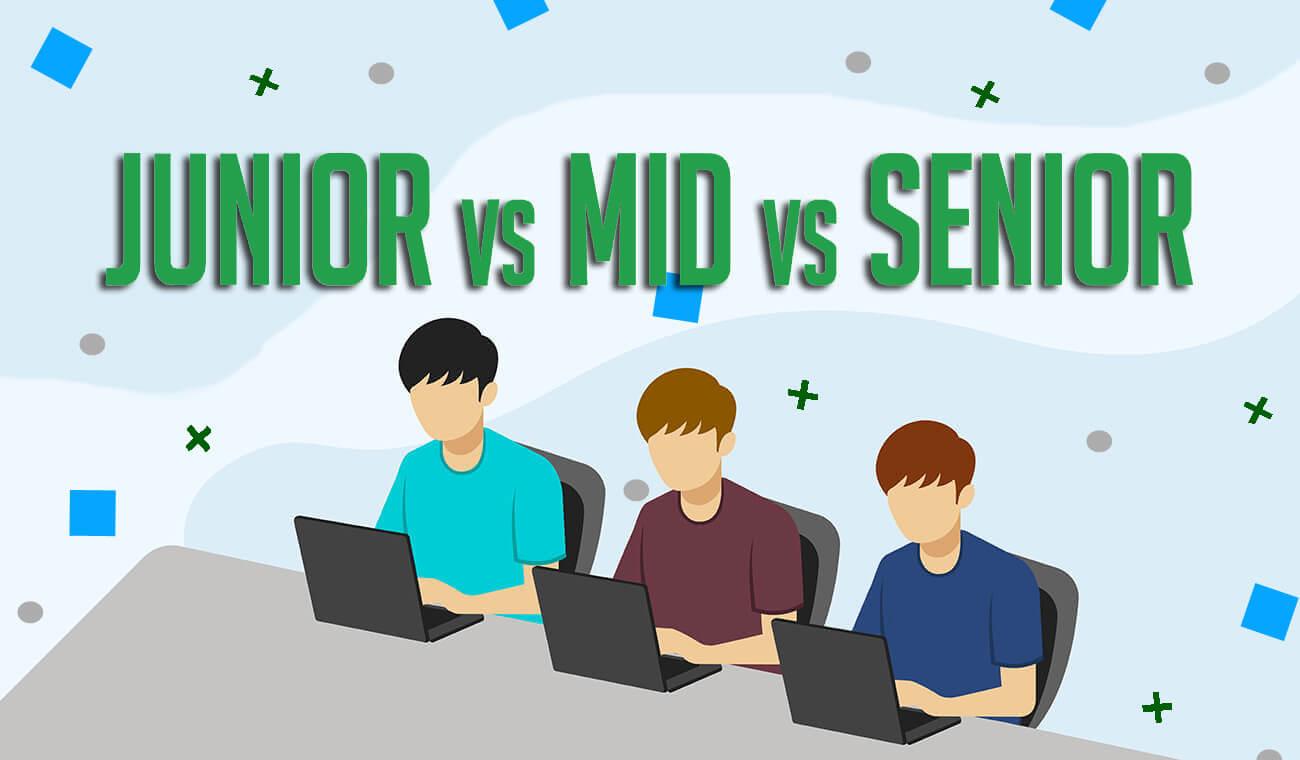Отличия Junior, middle и senior разработчиков